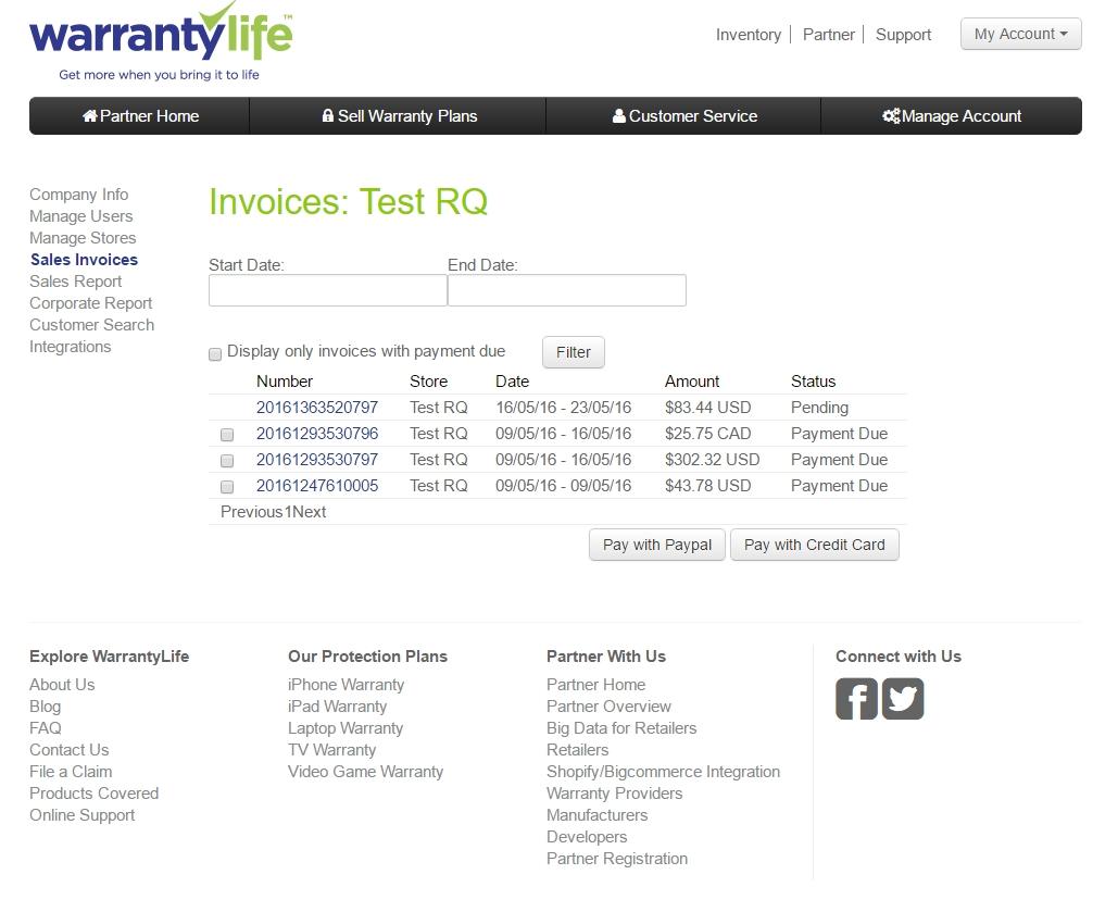 Where Do I Go To Pay My Invoice Warranty Life